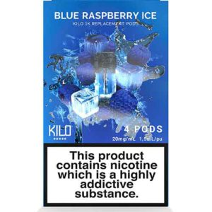 1K Pods Blue Raspberry Ice